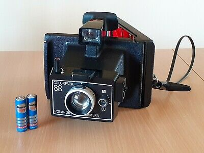 Vintage Polaroid Colorpack 88 Instant Camera w/ used film & National Batteries