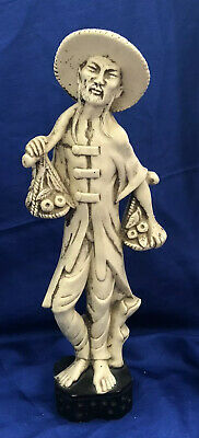 Chinese Asian Man Figurine Statue Decor Vintage Collectible Resin