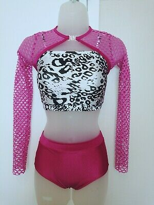"""3or4/"""" pony tail cones Freestyle disco dance costumes greens /& yellows"""