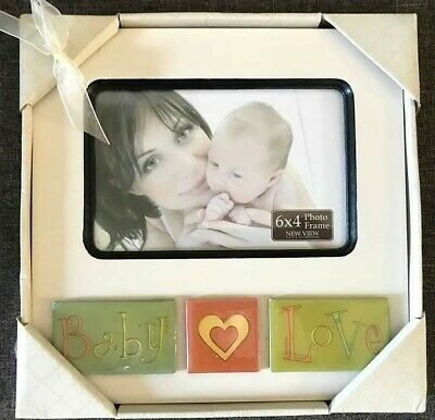 New View Gift & Accessories Picture Frame Baby Love NEW Green Orange