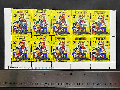 Dominica 2000s, Disney Goofy & Mickey 2 ct, 10 Stamps, MNH