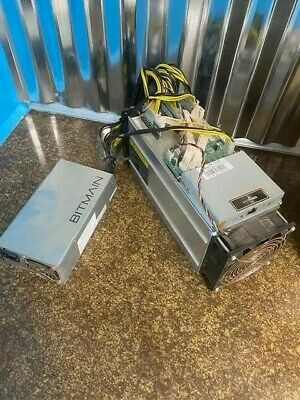 Antminer S9 13 TH/s Bitcoin Miner + power supply.