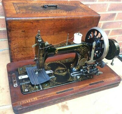 Antique Frister & Rossman Handcrank Transverse Shuttle Sewing machine