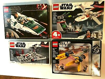 Lot of 4 LEGO Star Wars 75235, 75248, 75258, 40407 20th Anniversary Editions!!