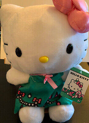 Hello Kitty Large Plush Backpack Pink Tutu Hearts Bow BRAND NEW CUTE!