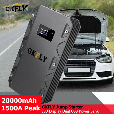 New High Current 1500A 12V Car Jump Starter Portable Power Bank Battery Charger