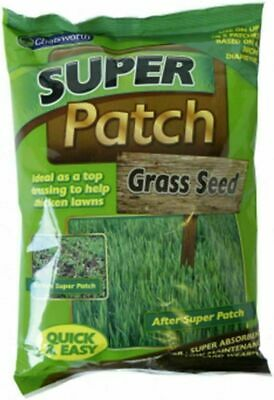 Grass Seed Super Patch 200g Gardening Thicken Lawns Pets, Burnt, Dry Lawns