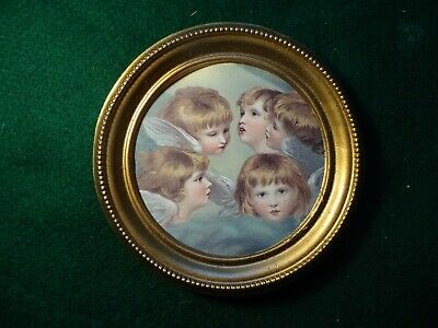 Miniature  print  of  Heads of Angels in round frame