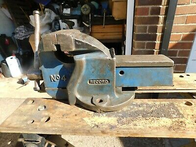 RECORD No 4 ENGINEERS / MECHANICS BENCH VICE. MADE IN ENGLAND