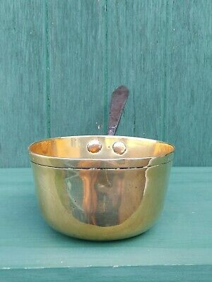 1700s 18thC Rare Georgian Era Cooking Pot Brass Steel Copper Poss. London Mark?