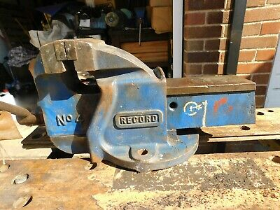 RECORD No 4 MECHANICS / ENGINEERS BENCH VICE. MADE IN ENGLAND