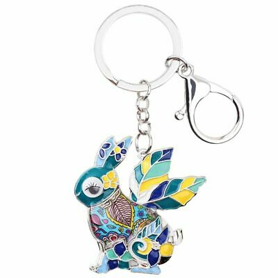 Top Quality Enamel Alloy Rabbit Key Ring Animal Jewelry For Women Party Gift