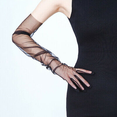 Summer Women Sexy Mesh Yarn Driving Gloves Thin Breathe Laces Sunscreen Gloves