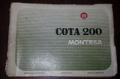 Montesa Cota 200 manuale uso + catalogo ricambi originale owner's + parts manual