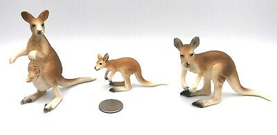Schleich KANGAROO FAMILY Female Male Joey Figures Wildlife Animal Retired