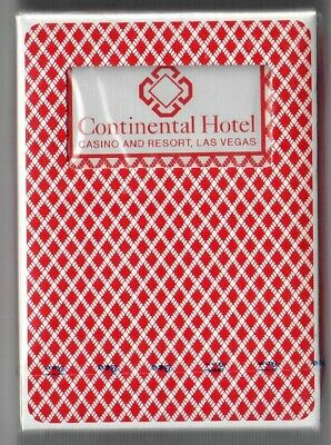 SEALED Vintage Continental Hotel Las Vegas Casino Playing Cards Red deck NOS NV