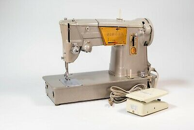 Vintage Singer 328K Heavy Duty Sewing Machine Style-O-Matic W/  Foot Pedal MCM