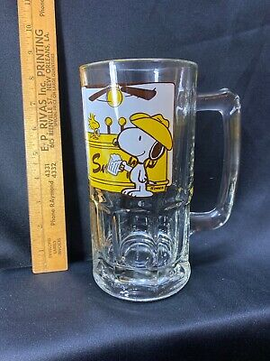 Vintage 1965 Snoopy Woodstock Schulz Large Stein Mug Here's To You Pardner 32 Oz