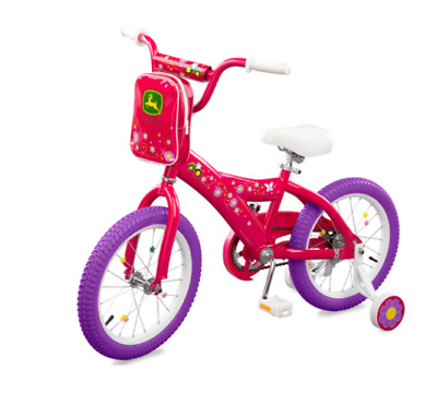John Deere 16 inch Girls Bicycle Pink #LP53341