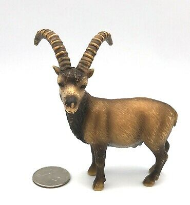 Schleich 14366 ALPINE IBEX Wild Goat Retired Animal figure 2006 RARE!