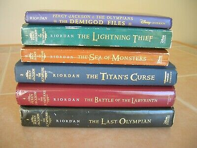1-5 PERCY JACKSON AND THE OLYMPIANS Complete Series + Demigod Files Rick Riordan