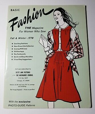 1978 The Young Originals - Basic Fashion: The Magazine For Women Who Sew