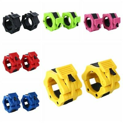 """2x Olympic Dumbbell Barbell Bar Lock 2"""" Weight Clamps Collars Gym Training 50mm"""