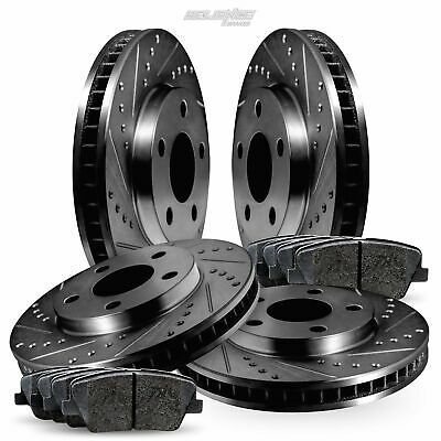 [FULL KIT] Black Drilled Slotted Rotors and Ceramic Pads BBCC.22013.02