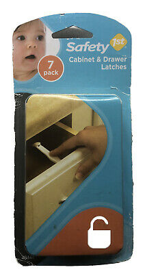 Safety 1st Cabinet Door/Draw Wide Grip Latches (7) seven pack