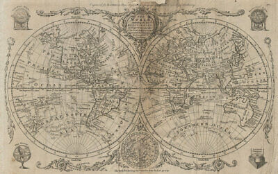 The World including the late discoveries by Captn Cook… by Thomas BOWEN 1789 map