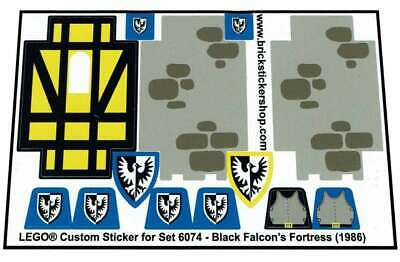 Precut Custom Replacement Sticker voor Lego Set 6074 - Black Falcon's Fortress (