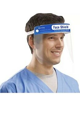 FDA Approved Pack Of 5pcs Full Face Shield Clear Protection Safety Work Guard.