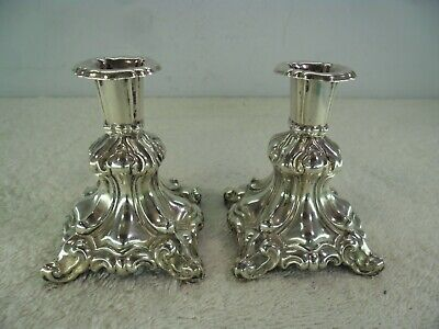 Pair of Silver Plated 19th Century Taper Sticks