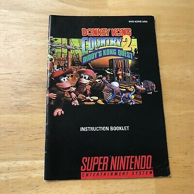 SNES Donkey Kong Country 2 Manual Only