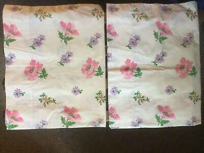 Vintage Tastemaker Faux Embroidery Floral Dots Percale Standard Pillowcases Set