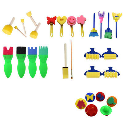 29PCS/Set Drawing Set Sponge Brush Children's Interesting Early Education Manual