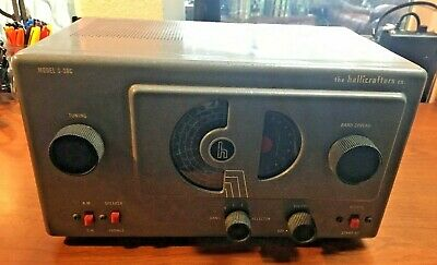 1953 Vintage Halicrafters Short wave Tube Radio Model S-38C Working!!