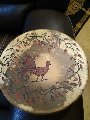 **Awesome Old Native American Rawhide Personal Drum Double Sided! Shaman **