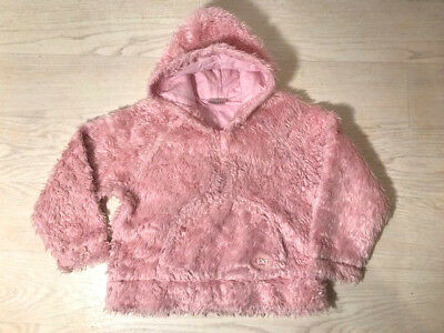 ~Next Faux Fur Fluffy Baby Pink Girls Hoody Age 8Yrs ~