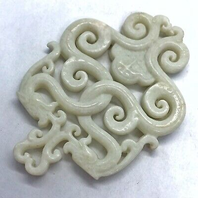 Antique Chinese Jade Or Stone Carving Old Asia - Qing Dynasty - Ca. 1750-1910