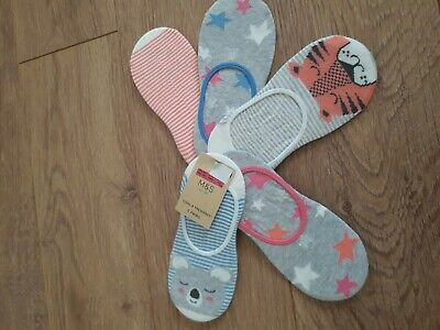 New! M&S girls invisible trainer socks size 12.5-3.5 age 7-10