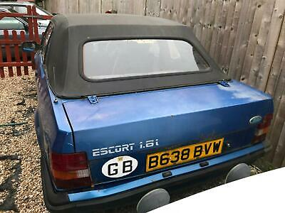 1985 Ford Escort 1.6i 2dr CONVERTIBLE Petrol Manual