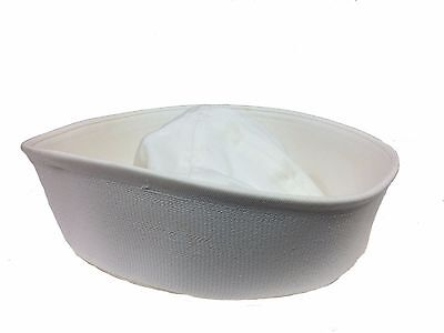 US issue Navy Dixie Cup Enlisted Sailor Hat, White size Medium (7 1/4)