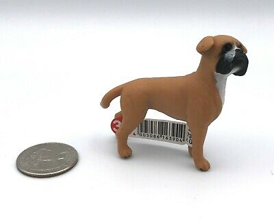 Schleich Female BOXER Adult Brown & White Dog Figure 16390 Retired 2012 w/Tag