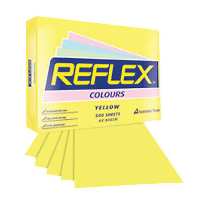 Reflex Colours Copy Paper A4 Yellow 80Gsm 500 Sheets/Ream