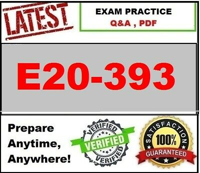 E20-393  EMC Unity Solutions Specialist  ~LATEST 2020 Exam Practice