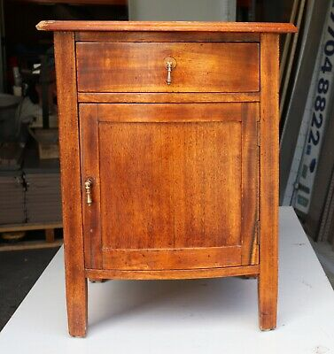 Antique Side Cabinet Table - Complete , requires restoring