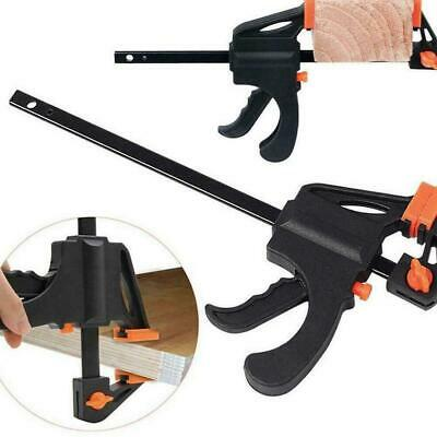 4 inch Woodworking Bar F Clamp Clip Grip Ratchet Release DIY Carpentry Tool #SO7