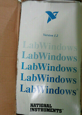 National Instruments LabWindows 1.2 1989 - Manuals & disks -Complete, Never used