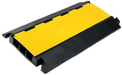 Rubber 3-Channels Cable Protector Car Ramp Bump Safety Cover Heavy Duty Max 7.5T